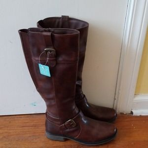 Yuu Brown Riding Boots Size 9M